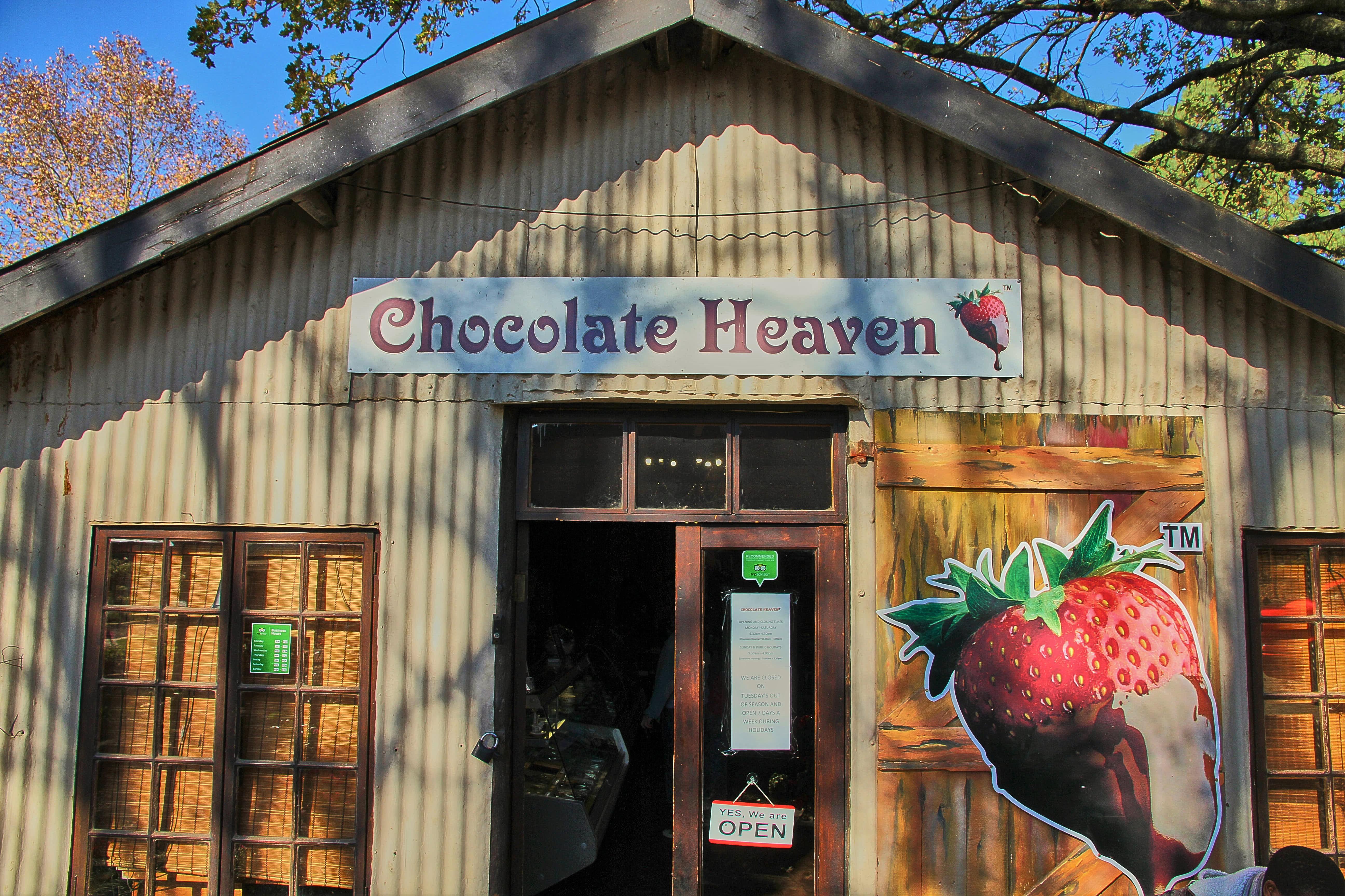 chocolate heaven entrance