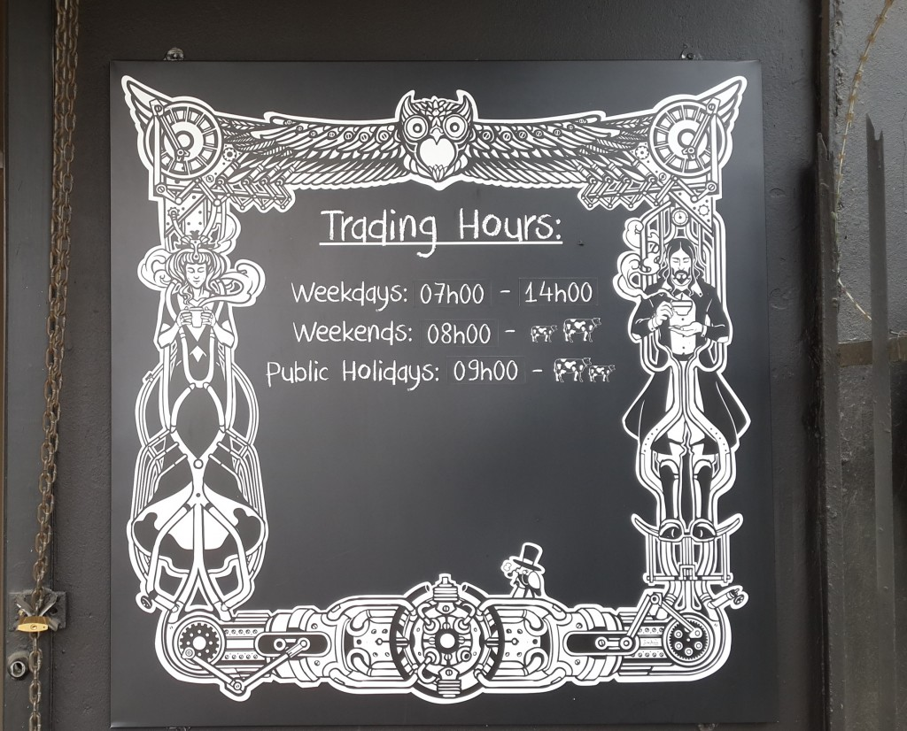 Steampunk Trading hours