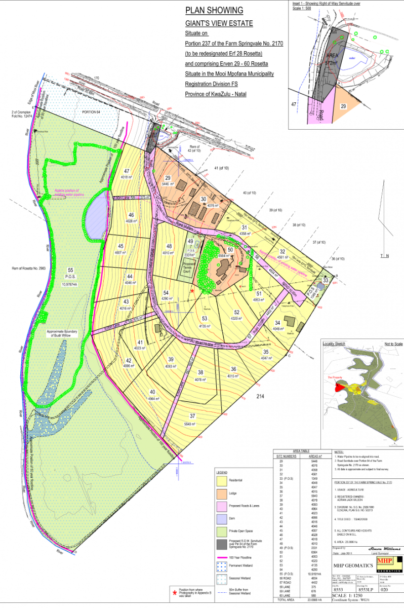 Building map for Giants View Estate
