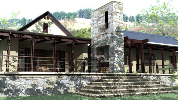 Front View of Lotheni at Giants View Estate
